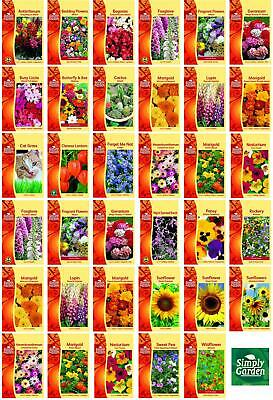 £1.89 • Buy Simply Garden Flower Seeds Grow Your Own Colourful Flowers 25+ Varieties