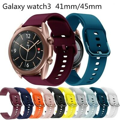 $6.85 • Buy Soft Silicone Watch Band Strap For Samsung Galaxy Watch 3 41mm 45mm 46mm LTE