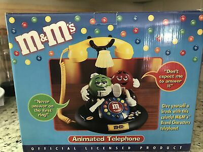 $33.75 • Buy M&M's MIB ANIMATED Talking Light-Up TELEPHONE Phone Red Green Blue Couch