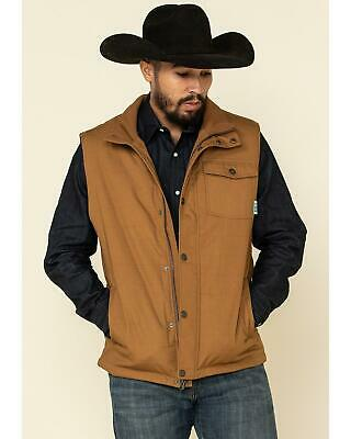 $74.93 • Buy Cinch Men's Canvas Coated Polyfill Puffer Vest  Brown X-Small