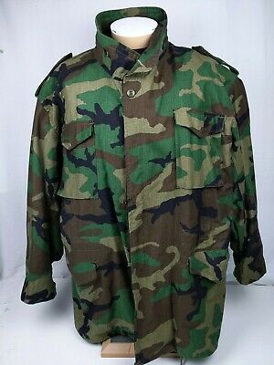 $39.99 • Buy US Military SZ 4XL M-65 Field Jacket Woodland Camouflage Cold Weather