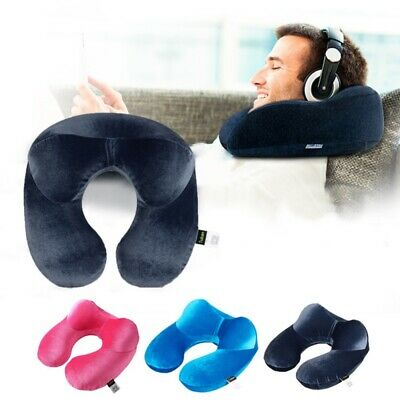 AU15.99 • Buy U Shaped Travel Neck Pillow Inflatable Pillow Soft Car Head Rest Support Cushion