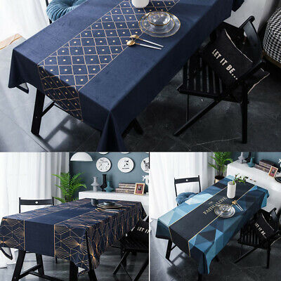 AU45.15 • Buy Geometric Rectangle Tablecloth Table Cloth Cover Kitchen Dining Room Home Decor