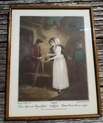 £10 • Buy Cries Of London, Plate 6, 'Knives, Scissors And Razors To Grind' Framed Picture