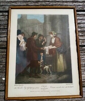 £10 • Buy Cries Of London, Plate 11, 'A New Love Song Only Ha'penny A Piece' Framed Print