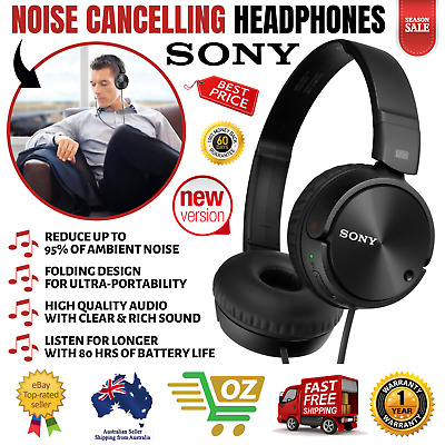 AU55.07 • Buy Sony Noise Cancelling Headphones Excellent Bass Folding Design - MDRZX110NC New