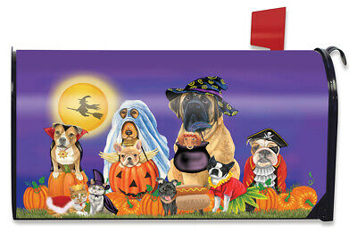$16.99 • Buy Trick Or Treat Dogs Halloween Magnetic Mailbox Cover Cat Jack O'Lantern Standard