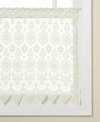 $14.99 • Buy Medallion Macrame Lace Kitchen Curtain Collection - White Or Ecru - NEW !