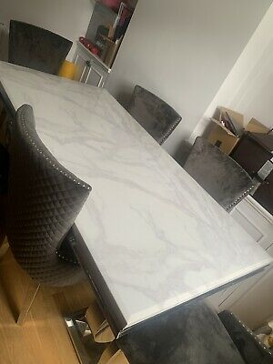 £1100 • Buy Marble Dining Table And Chairs