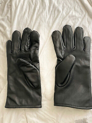 $15 • Buy Unisex Military Style Gloves, Black, Leather, Polyester Wool Lined 50/50,Size 7C