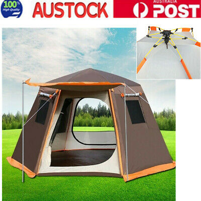 AU201.65 • Buy 3-4 Person Large Camping Tent Waterproof Outdoor Travel Tent For Family Hiking