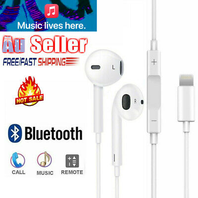 AU9.95 • Buy Wired Bluetooth 8pin Earphones Headphones Mic For Apple IPhone12 11 8 7 X Xs XR