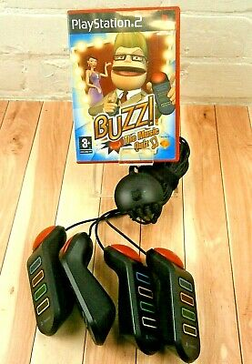 £14.95 • Buy Buzz The Music Quiz (PS2 - PAL) & Set Of 4 Wired Buzzers USB  Sony PlayStation 2