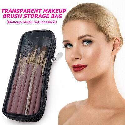 £4.97 • Buy  Mesh Makeup Brush Bag Cosmetic Toiletry Organizer Travel Beauty Tools Pouch