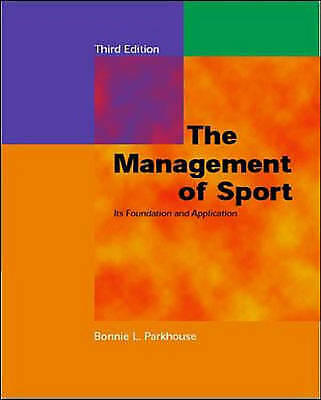 £58.76 • Buy Management Of Sport (McGraw-Hill International Edition: Health Professions) By
