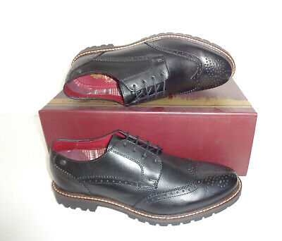 £27.98 • Buy Base London Mens Leather Black Brogues Formal Shoes New RRP £80 UK Sizes 5-12