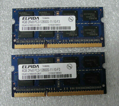 $23.98 • Buy MacBook Pro 13 A1278 Mid 2012 MD102LL/A OEM Memory 8GB SO-DIMM PC3-12800S Lot 2