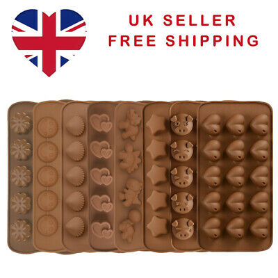 £2.75 • Buy 3D Silicone Cake Chocolate Wax Melt Candle Soap Baking Moulds Many Designs UK
