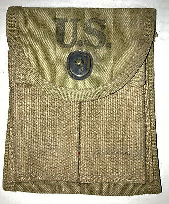 $50 • Buy WWII US Military M1 Carbine Canvas Belt Pouch, Dated 1943.  Super Condition!.