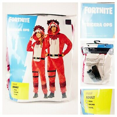 $ CDN43.56 • Buy NEW LG/XL 12-16 Fortnite Tricera Ops ADULT Halloween Costume Officially Licensed