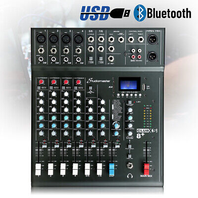£130 • Buy B-Stock Studiomaster CLUB XS 8 + Channel Mixer Desk With DSP Effects