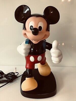 £45 • Buy Vintage Disney Mickey Mouse Back Pack Novelty Push Button Telephone 1980s