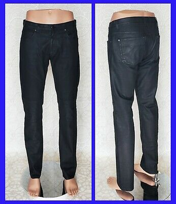 £916.85 • Buy NEW VERSACE COLLECTION BLACK STRETCHY RUBBER PANTS US Waist Size 34