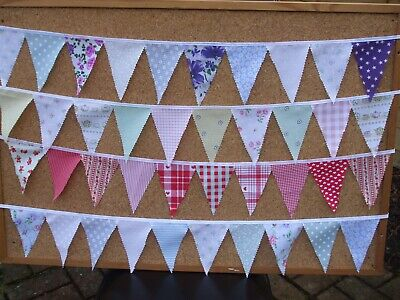 £4 • Buy Handmade Cotton Bunting - Camping/glamping/tent/motorhome/festival