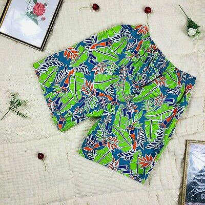 £12 • Buy Funky Quirky Multicolour Tropical Pattern Printed Shorts Festival Rave Hawaiian