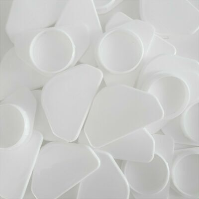 £3.97 • Buy 35mm Hinge Winged Hole Cover White Caps Plastic Kitchen Cupboard Door Blanking