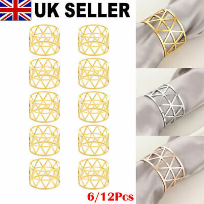 £5.29 • Buy 6/12Pcs Alloy Napkin Rings Wedding Decor Dinner Table Napkin Party Accessories