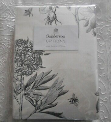 £50 • Buy Sanderson  Etchings & Roses  Ivory / Dove Silver Curtains. Each 66  X 72 .
