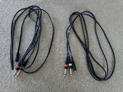 £5.75 • Buy 2 Cables: 1x Mini 1/8 Jack To 2x 1/4 Jack Stereo Cable 3m IPod MP3 Etc