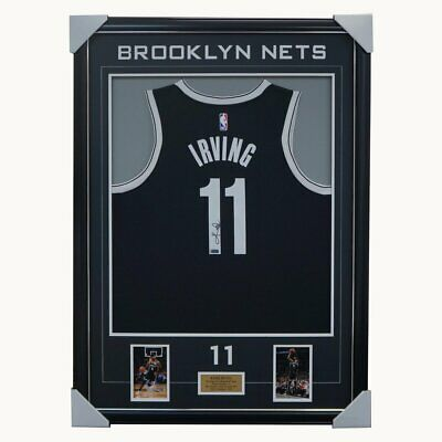 AU1495 • Buy Kyrie Irving Signed Brooklyn Nets NBA Official Panini Authentics Jersey Framed