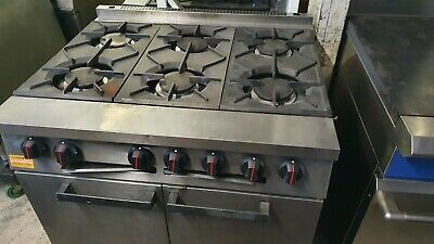 £549 • Buy Second Hand  Natural Gas Falcon 6 Burner Oven With Cooker Commercial Catering