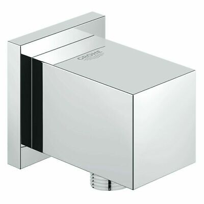 £14.99 • Buy Grohe Euphoria Cube Shower Wall Outlet Connection 27704 Chrome Hose Connector