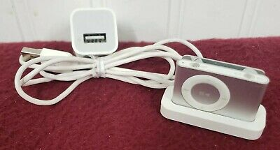 £25.17 • Buy APPLE IPOD SHUFFLE  2ND White/Silver 1GB Charging Dock AC Tested Battery