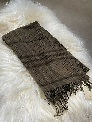 £139.99 • Buy Authentic BNWT Burberry 200 X25 Wool & Cashmere Long Quilt Scarf Khaki Green