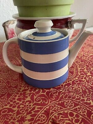 £35 • Buy Cornish Ware Cloverleaf Blue And White Teapot Immaculate 5 X 4 Inches