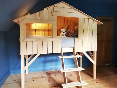 £449 • Buy Children's Tree House Single Bed, Natural Solid Wood (Conran Shop)