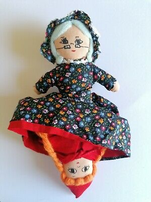 £16.99 • Buy Topsy Turvy Doll Red Riding Hood/Grandmother Wolf Flip Reverse Fabric Toy 8