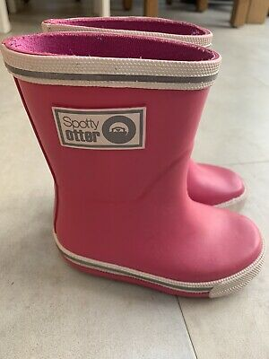 £10 • Buy Spotty Otter Pink Forest Ranger Wellies Junior UK Size 4 Excellent Condition