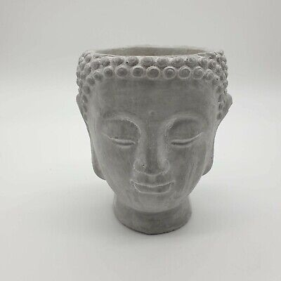 £14.99 • Buy Concrete Cement Buddha Head Fragrant Candle, Distressed  - Light Grey