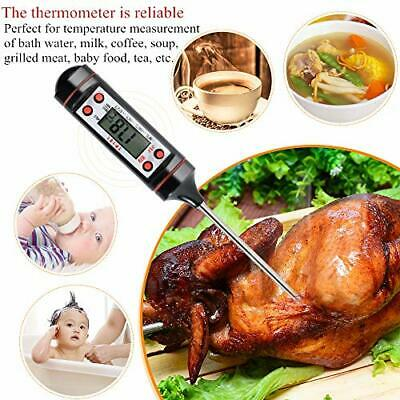 £3.15 • Buy Digital Probe Food Thermometer Temperature Cooking Kitchen BBQ MEAT MILK WATER