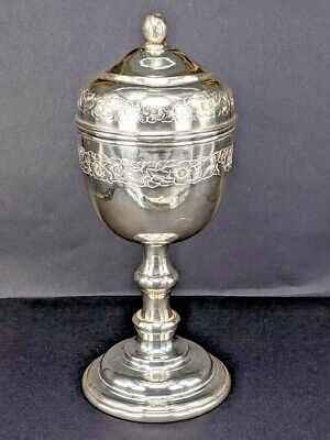 £380 • Buy Solid Silver Chalice Cup With Cover Possibly Religious 6 Inches High