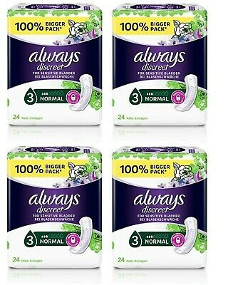 £18.80 • Buy Always Discreet Incontinence Pads Normal 24 Pads X 4 Pack