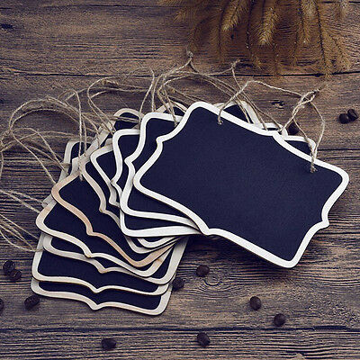 £2.31 • Buy 5Pcs Mini Wooden Chalkboard Blackboard Hanging Message Table Number Party DSH4