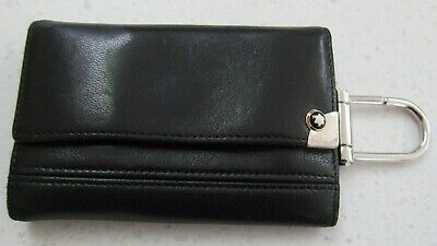 £90 • Buy Mont Blanc   Meisterstuck   Black Leather Keyring Case  Excellent Condition