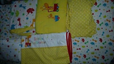£15 • Buy Mothercare Little Circus Cotbed Bed In A Bag Rainbow Duvet Fleece Coverlet Sheet
