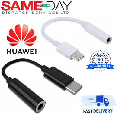 £2.99 • Buy Genuine Huawei USB Type C To 3.5mm AUX Audio Adapter Headphone Jack Cable P30
